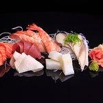 Tasty sushi and sashimi