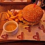 Темпл бургер и обычная горчица