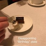 """The most disappointing """"celebration"""" plate : ("""