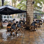 Rainy day outside seating