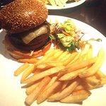 Mushroom Burger with Swiss : )