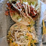 Steak and Cheese Taco and Thai Chicken Taco