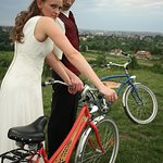Wedding photos on our bikes