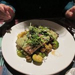 Grilled red fish with caper sauce