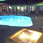 Avanti pool and firepit our first night
