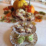 Turkey and cucumber sandwiches at one of Rosemont's fall teas