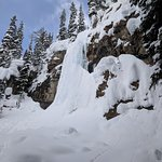 Frozen waterfall along the way