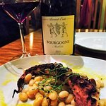 Benoir Ente Bourgogne Pinot Noir paired beautifully with tender grilled octupus.