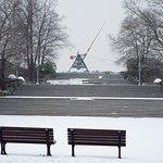 Letna Park in the snow