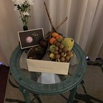 Local fruit basket in the room