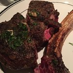 Tomahawk steak close-up