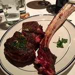 Tomahawk steak bone is dinosaur like