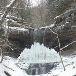 Tinker Falls, partially frozen