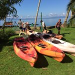 Getting ready for kayak tour of the mangrove forest