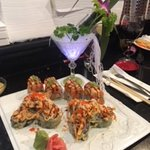 Godzilla roll and figi mountain roll