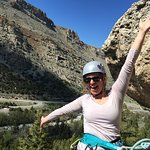 Kara enjoying a sunny day in Sinks Canyon!