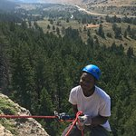 Rappelling in Sinks Canyon