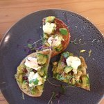 Smashed avo on turkish with feta