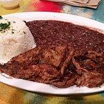 Ropa Vieja, rice and beans, maduros ... soooo good!