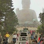 250 steps up to Po Lin Monastery