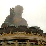 Po Lin Monastery is often enshrouded in mist