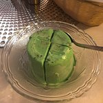 Indian pistachio ice cream dessert