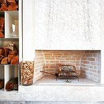 Fireplace at Sunny Terrace of Restaurant Kaštel