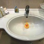 Some humor in the bathroom; Rubber ducky came home with me