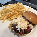 BBQ Pulled Pork Burger with Fries