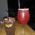 Our coctails ( strawberry volcano - right )