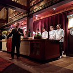 The introduction of staff, the how's and why's of the food, choices, pairings and backgrounds.