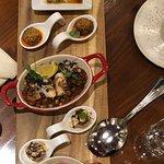 Starter plate. DELICIOUS. Foie gras, octopus, tuna, tomato 👍🏻👍🏻👍🏻