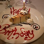 Compimentary Birthday Cheese cake