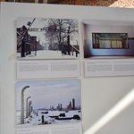 An exhibition showing Auschwitz