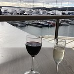 Lovely late afternoon drink overlooking the Soldiers Point Marina