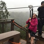 It rained for part of our zipping, but it didn't matter. We had a blast!