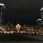 Tokyo Station (and Hotel) at night