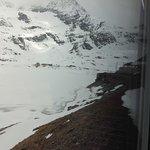 Vista de Diavolleza de dentro do Trem Bernina.