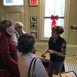 Tour Guide telling us about the Piermont Train Station.