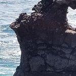 Heart shaped rock near the blow hole
