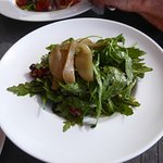 Rocket, Pear, Honey Walnut Salad