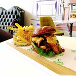 Gourmet Burger hand crafted on the premises by our amazing chef's