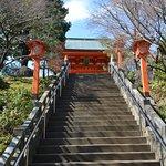 楼門に続く階段