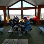 "Inside the mountain top lodge ""North Peak"""