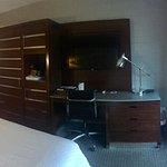 Desk, dresser and amenity area