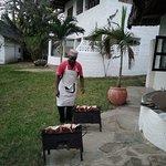 Langoustes au barbecue