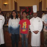 with sous Chef Mr Rajkumar and Mr Anant