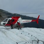 Heli flight onto the glacier ! :)