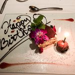 This was my birthday dessert....awesome!