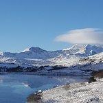 The Snowdon horseshoe during winter.